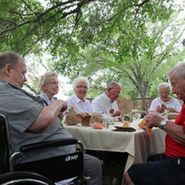 Group of seniors eating